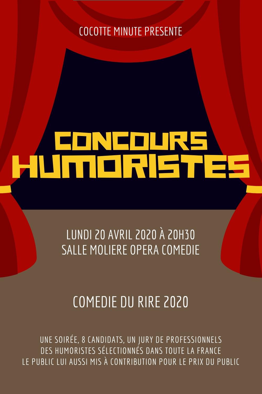 concours humoristes montpellier comedie du rire